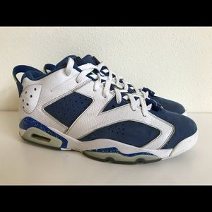 Rare🔥 Nike air Jordan 6 VI Low seahawks Retro